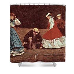 Croquet Scene Shower Curtain by Winslow Homer