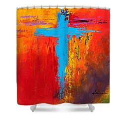 Cross 3 Shower Curtain