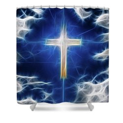 Cross Abstract Shower Curtain by Bruce Rolff