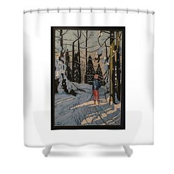 Cross Country Skiing In Upstate Ny Shower Curtain