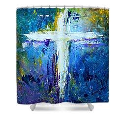 Cross - Painting #4 Shower Curtain by Kume Bryant