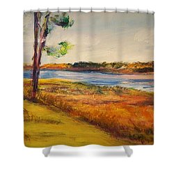 Cross Ranch State Park Shower Curtain