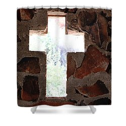 Cross Shaped Window In Chapel  Shower Curtain