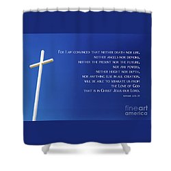 Cross With Blue Sky Shower Curtain