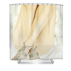 Crossed Shower Curtain