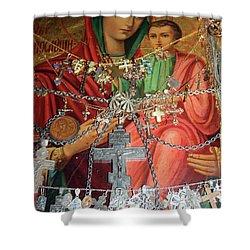 Crosses Shower Curtain by Munir Alawi