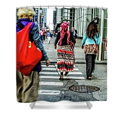 Shower Curtain featuring the photograph Crossing by Karol Livote