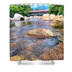 Crossing Nature Shower Curtain