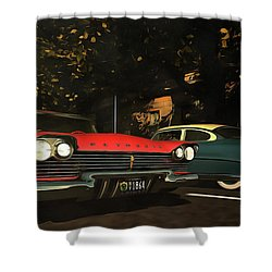 Crossing Oldtimers Shower Curtain