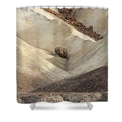 Shower Curtain featuring the photograph Crossing Paths - Death Valley by Sandra Bronstein