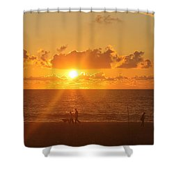 Shower Curtain featuring the photograph Crossing Paths by Robert Banach