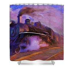 Crossing Rails Shower Curtain