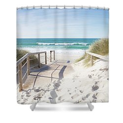 Crossing The Dune Shower Curtain by Edgar Laureano