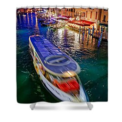 Crossing The Grand Canal Shower Curtain