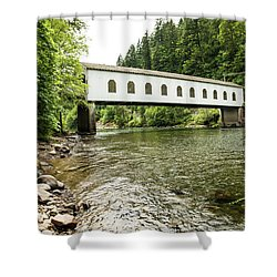 Crossing The Mckenzie River Shower Curtain