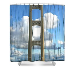 Crossing The Mighty Mac Shower Curtain