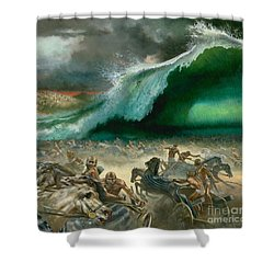 Crossing The Red Sea Shower Curtain by Anonymous