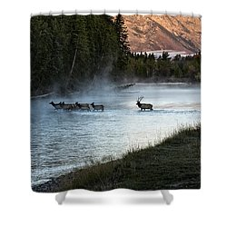 Crossing The River Shower Curtain