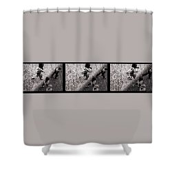 Crossing The Shadow Line Shower Curtain by Bob Orsillo