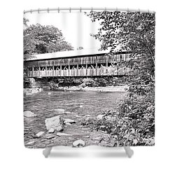 Crossing The Swift In Black And White Shower Curtain
