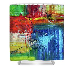 Crossroads Shower Curtain by Everette McMahan jr