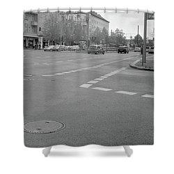Crossroads In Prenzlauer Berg Shower Curtain