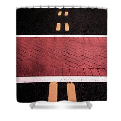 Crosswalk Conversion Of Traffic Lines Shower Curtain