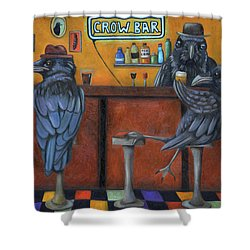 Crow Bar Shower Curtain by Leah Saulnier The Painting Maniac