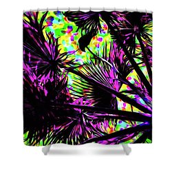 Crow In The Palm Tree 13 Version 5 Shower Curtain