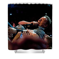 Crowd Surfing Shower Curtain