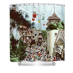 Shower Curtain featuring the photograph Crowded by John Schneider
