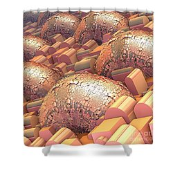 Crowded Shower Curtain by Michelle H