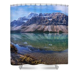 Shower Curtain featuring the photograph Crowfoot Reflection by Chad Dutson