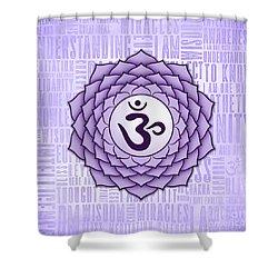 Crown Chakra - Awareness Shower Curtain by David Weingaertner