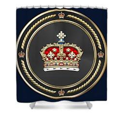 Crown Of Scotland Over Blue Velvet Shower Curtain