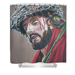Shower Curtain featuring the painting Crown Of Thorns by Bryan Bustard