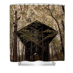 Crown Of Thorns Chapel Shower Curtain by Kathleen Struckle