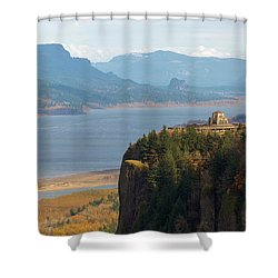 Crown Point On Columbia River Gorge Shower Curtain