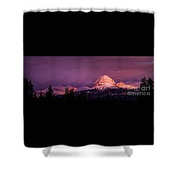 Crowsnest Sunrise Shower Curtain by Brad Allen Fine Art