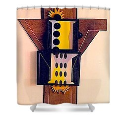 Crucifiction Shower Curtain by Al Goldfarb