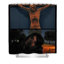 Crucifixion Shower Curtain