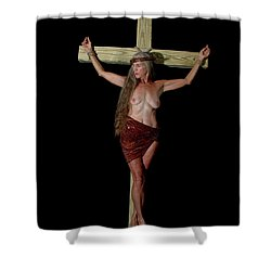 Crucifixion Of A Woman Shower Curtain