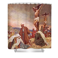 Crucifixion Shower Curtain by William Brassey Hole