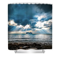 Cruise In Paradise Shower Curtain