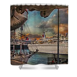 Cruise Port Shower Curtain
