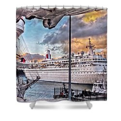 Cruise Port - Light Shower Curtain