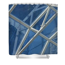 Cruise Ship Abstract Girders And Dome 2 Shower Curtain