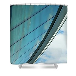 Cruise Ship Abstract Serenade Windows 1 Shower Curtain