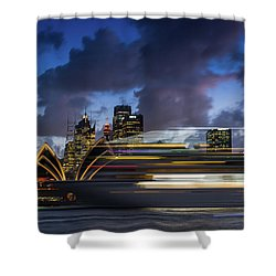 Cruise Ship Sydney Harbour Shower Curtain