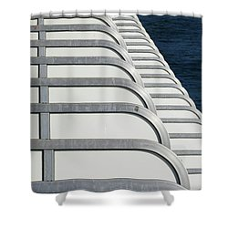 Cruise Ship's Balconies Shower Curtain